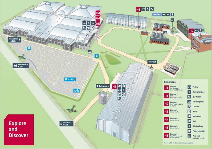 Site map of the RAF Museum