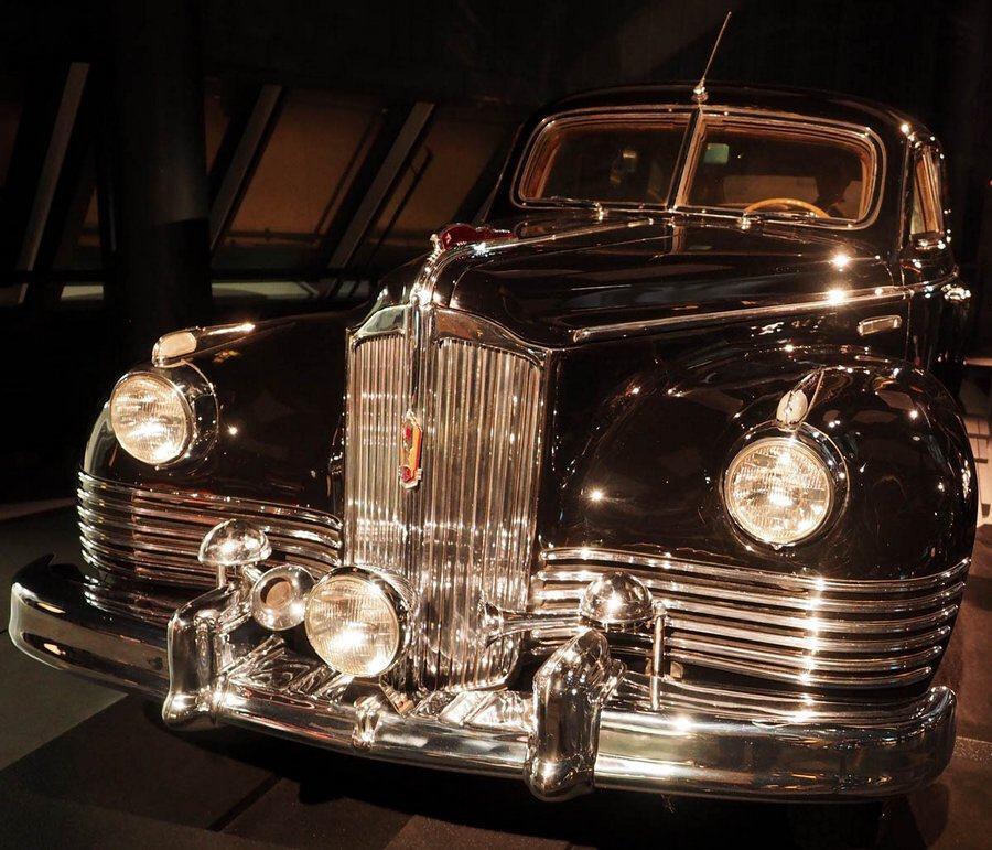Black armoured Zil car at Riga Motor Museum