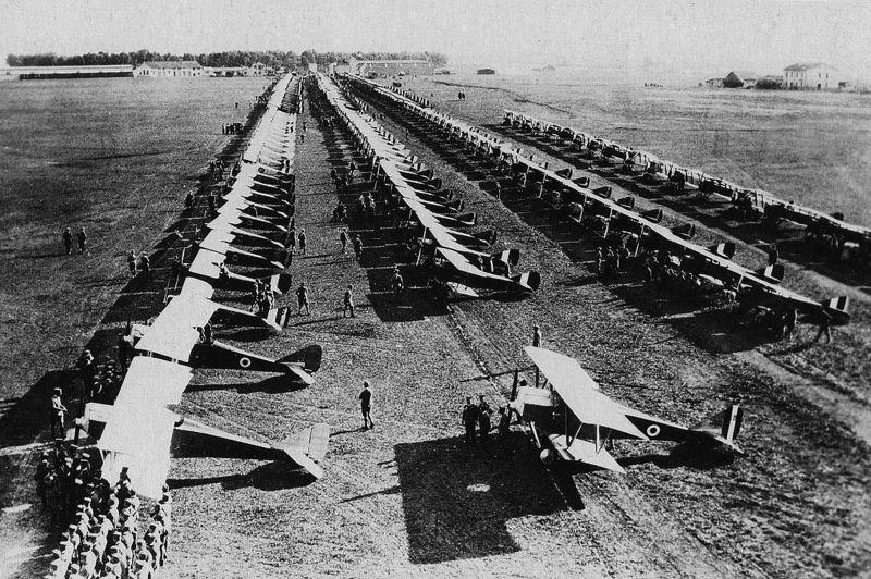 Italian Air Force biplanes at Centocelle in 1923