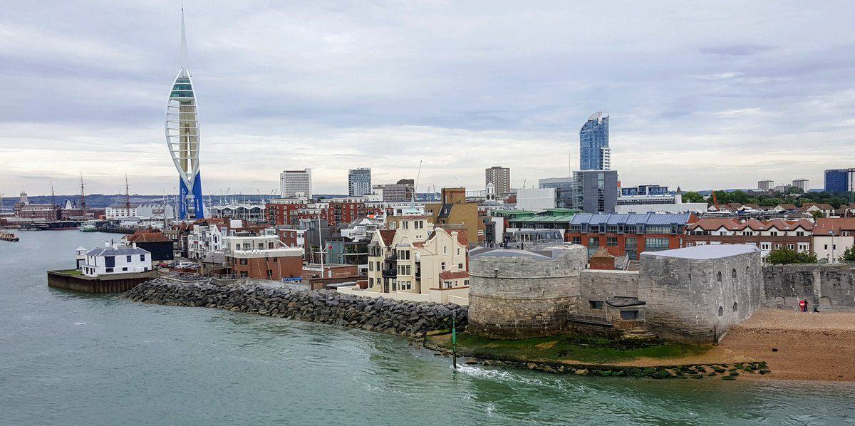 View along the Portsmouth seafront