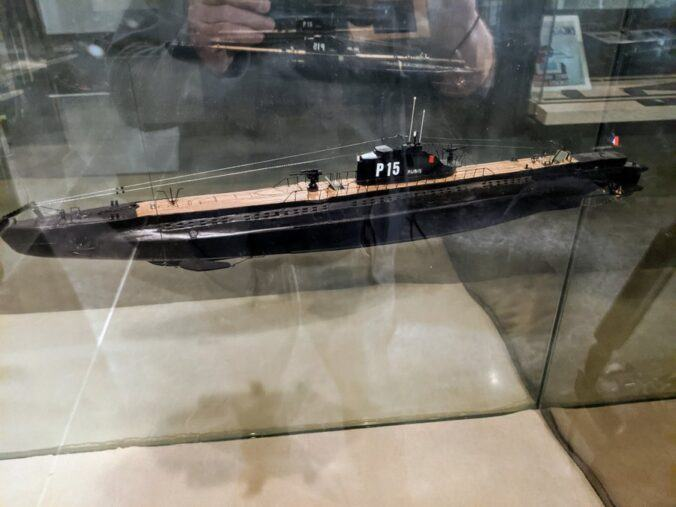 model submarine in black