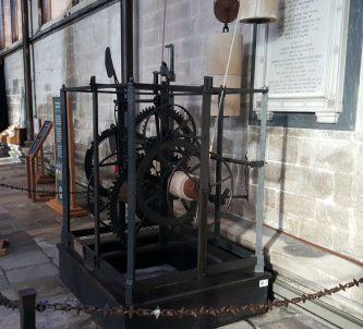 Old clock in Salisbury Cathedral