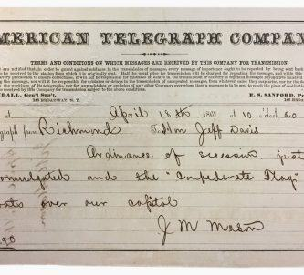 Old telegram