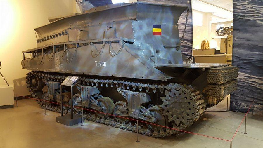 Amphibious Sherman BARV