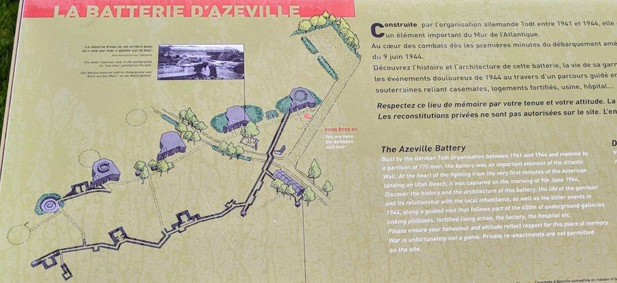 A map of the Azeville Battery