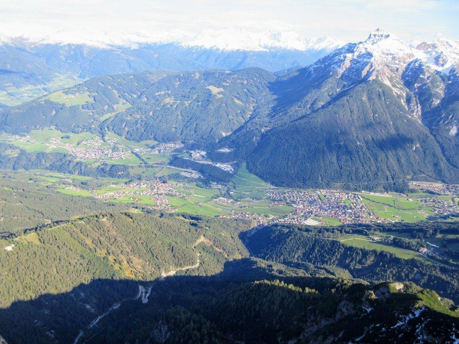 Aerial view of the Stubaital Valley, Austria