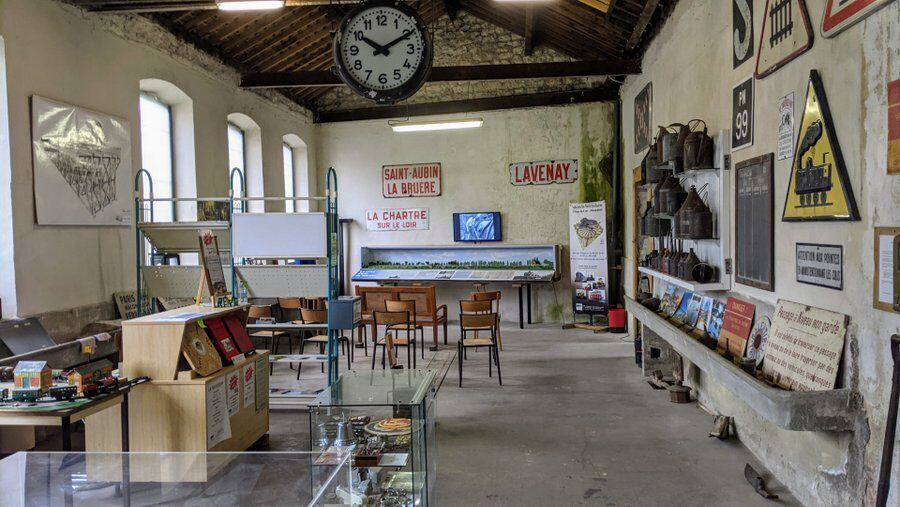 An old workshop at the roundhouse that has been turned into a temporary museum