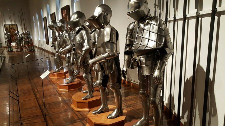 Suits of armour at Schloss Ambras in Innsbruck, Austria
