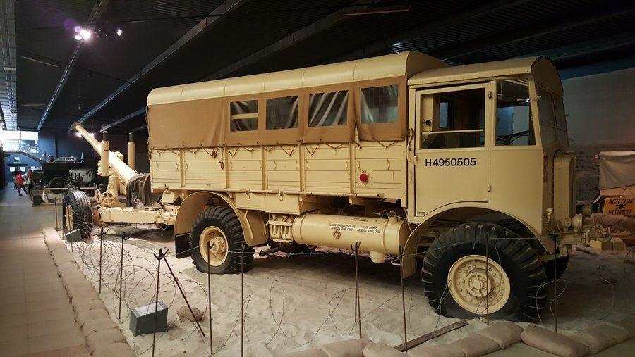 AEC Matador 4x4 truck and gun
