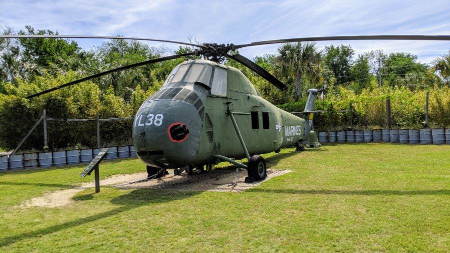 Large green helicopter