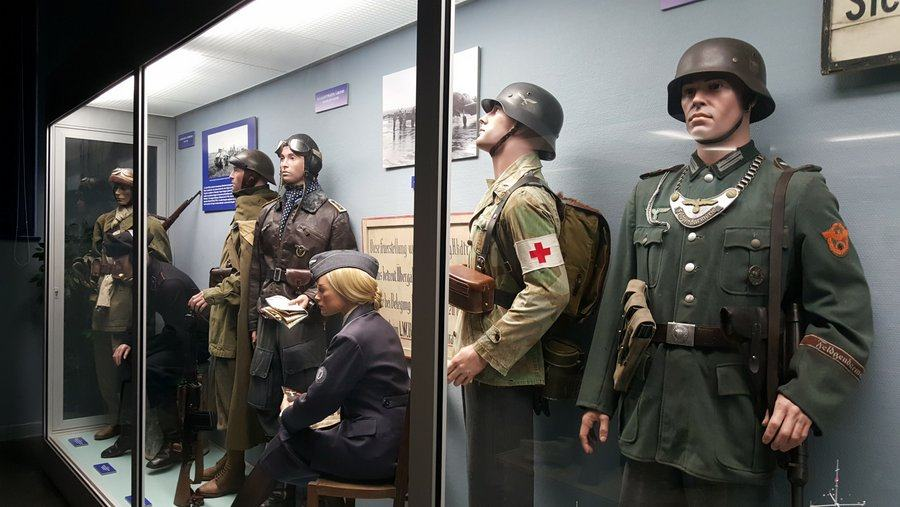 German WW2 uniforms on display
