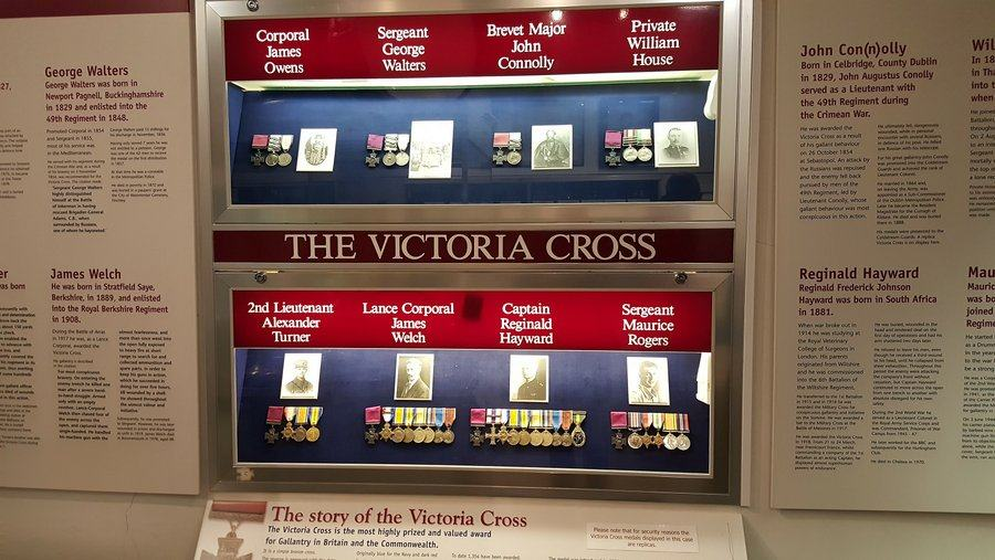 Victoria Crosses at the Rifles Berkshire and Wiltshire Museum, Salisbury