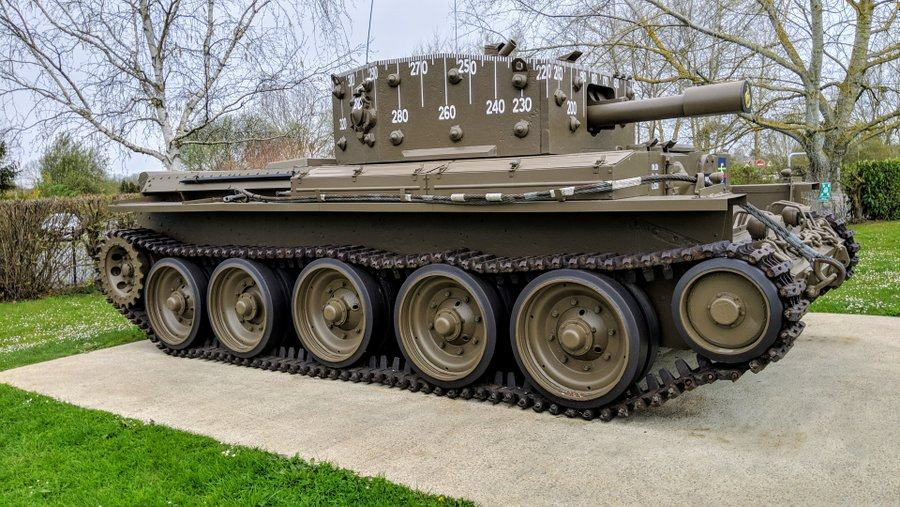 A large brown tank