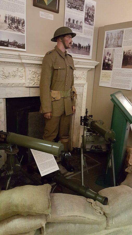 WW1 machine guns at the Rifles Berkshire and Wiltshire Museum, Salisbury