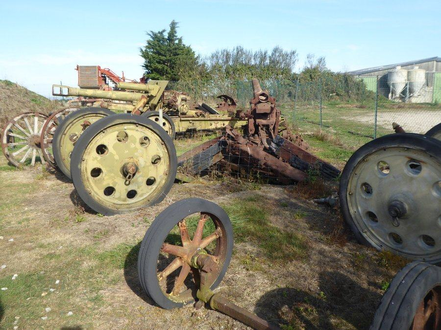 Rusty field guns