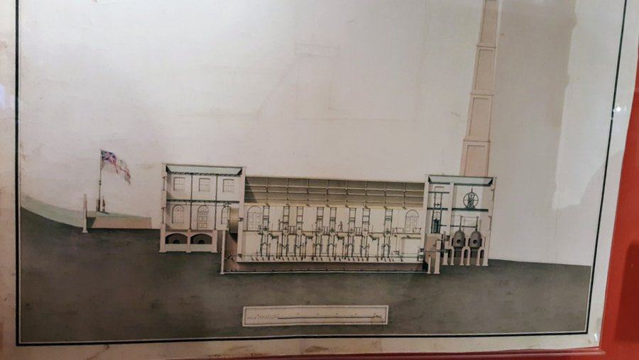 Design drawing on display at Being Brunel museum
