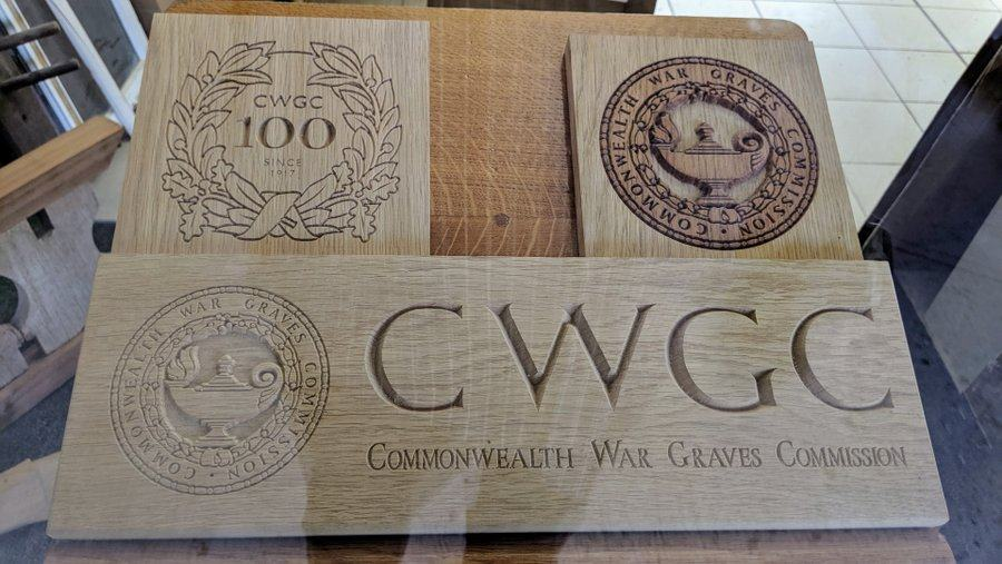 Examples of engraved wooden plaques