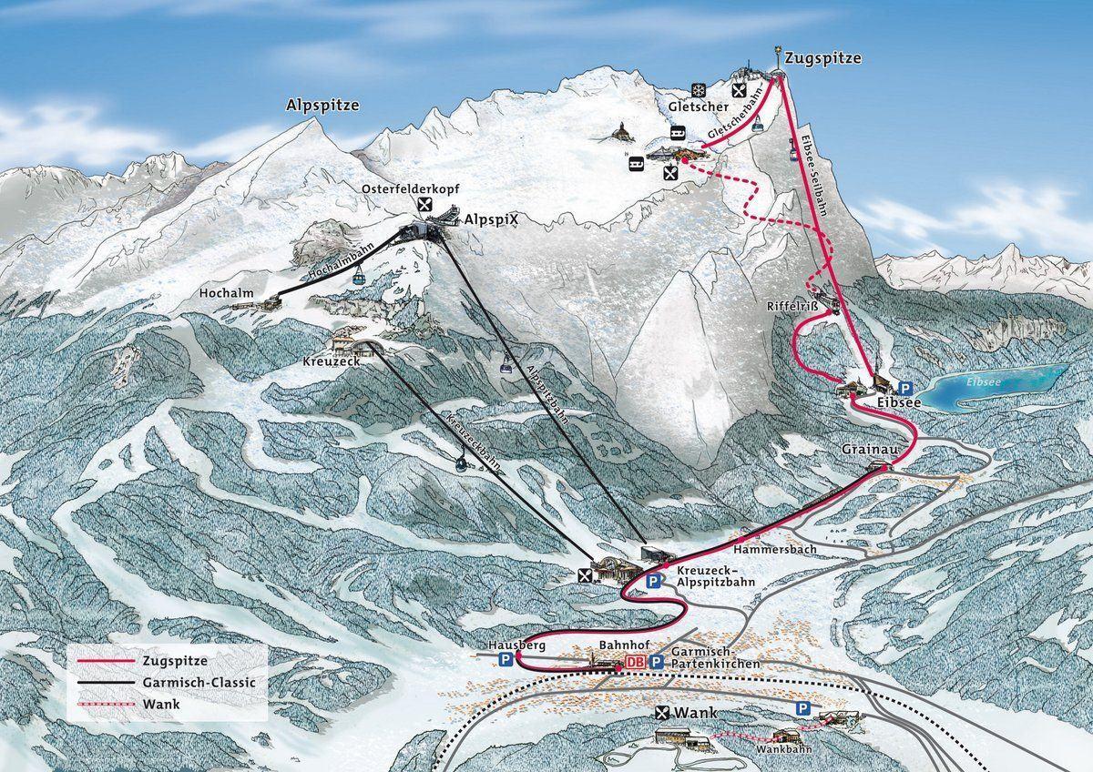 Zugspitzbahn map
