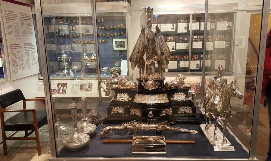 Trophies and silverware at the Rifles Berkshire and Wiltshire Museum, Salisbury