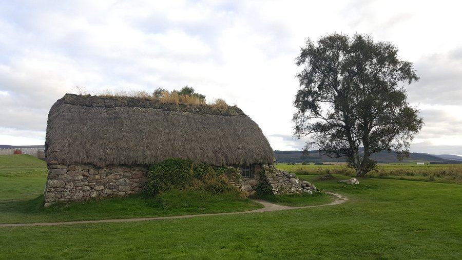 Thatched cottage on Culloden moor