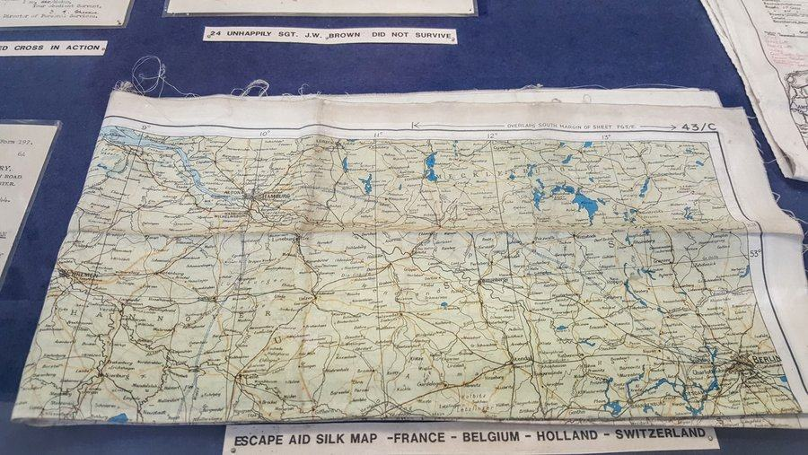 Airman's silk map