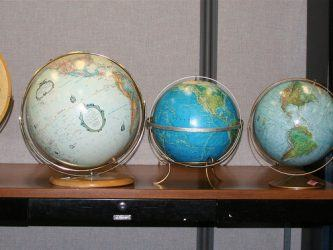 A set of globes
