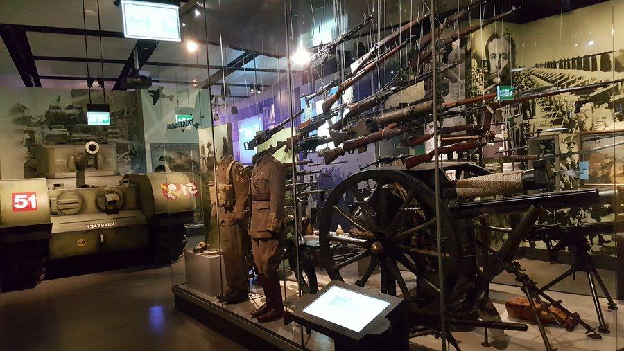 Gun display in the National Army Museum, London