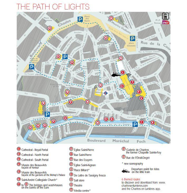 Chartres light trail map