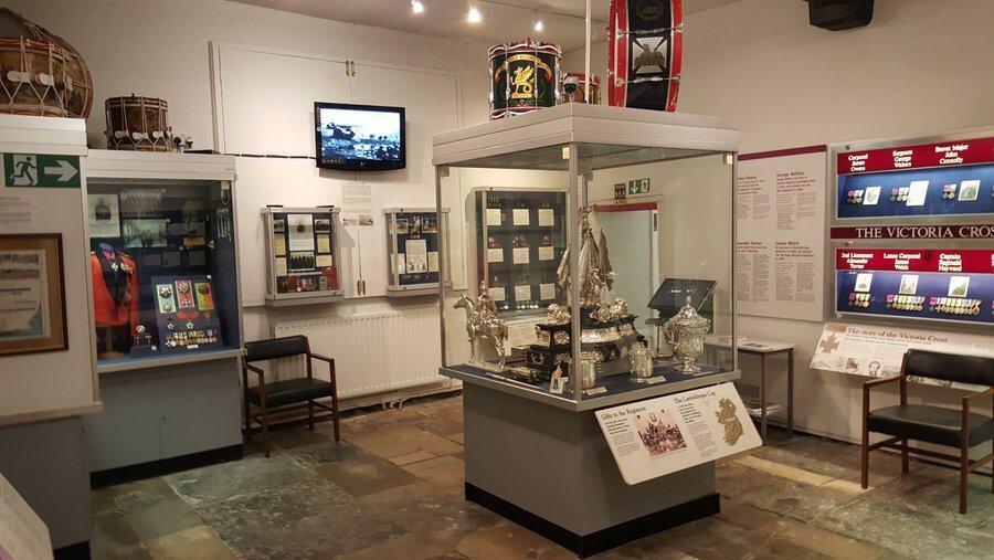 Regimental trophies at the Rifles Berkshire and Wiltshire Museum, Salisbury
