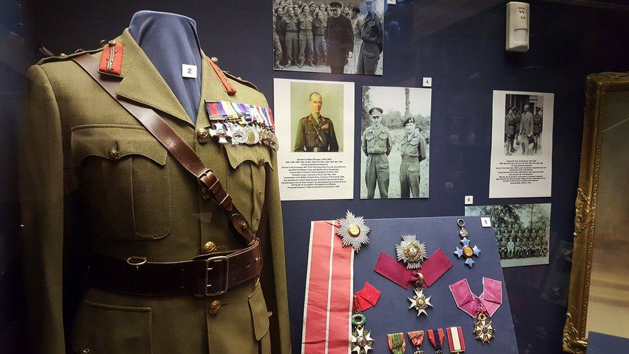 General Dempsey display cabinet at the Rifles Berkshire and Wiltshire Museum, Salisbury