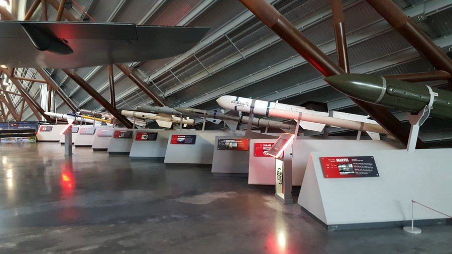Collection of missiles at RAF Cosford museum