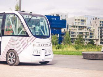 Navya driverless bus in Lyon