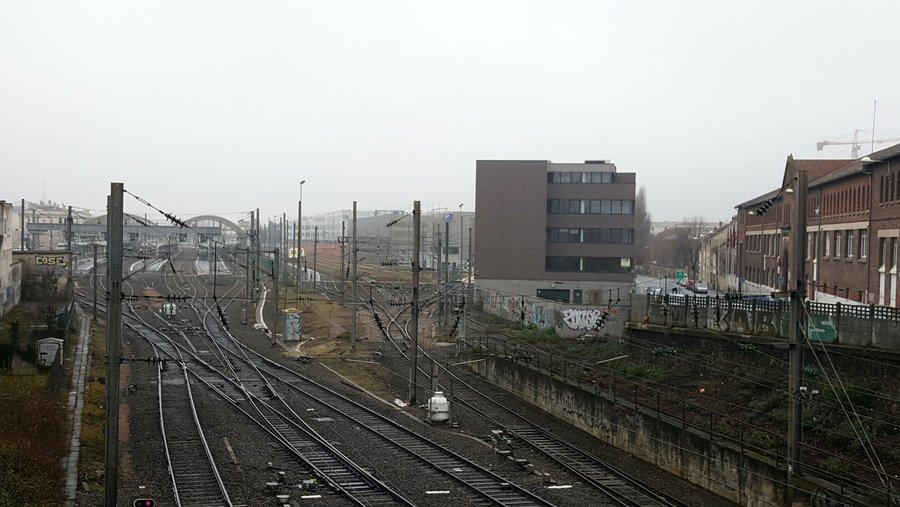 Railway tracks at Reims station