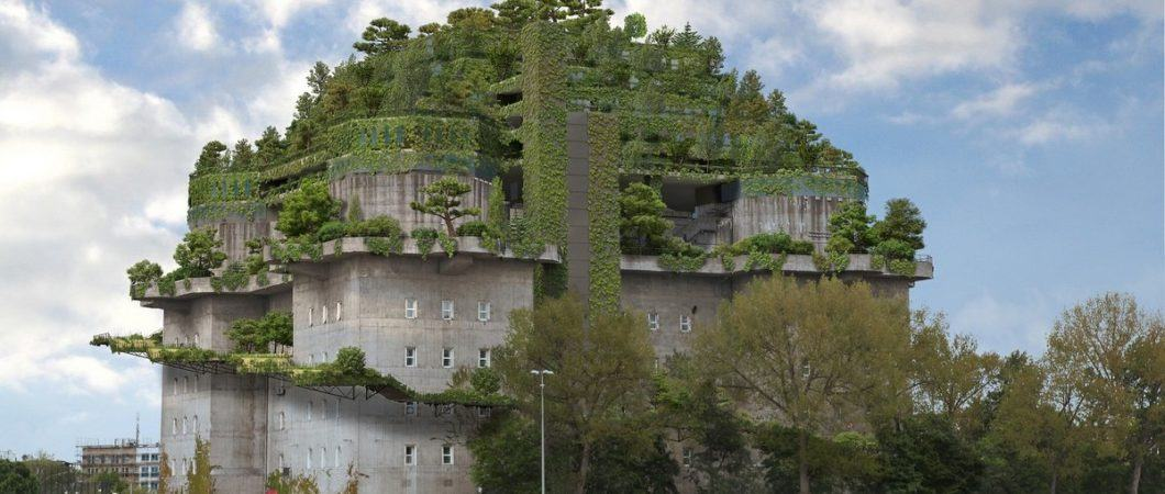 Artists impression of the new tower with tiered gardens on top