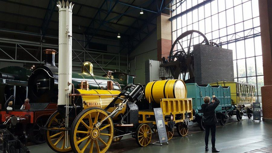 Replica of Stephenson's 'Rocket' at NRM