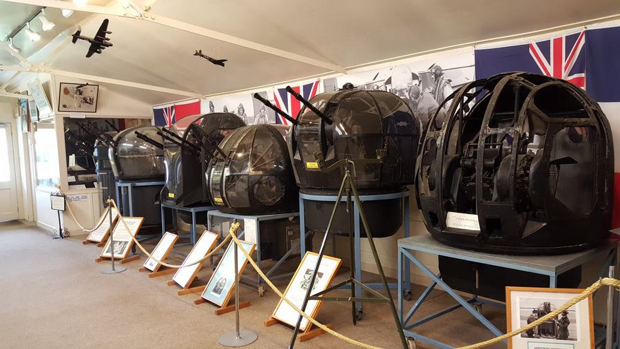 Air gunner turrets at Yorkshire Air Museum