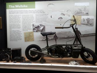WW2 Welbike mini motorbike on display at Beaulieu